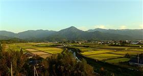 湯前町の全景